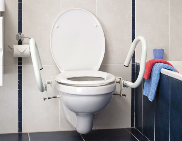 Picture of Throne 3 in 1 Toilet Rail - Powder Coated