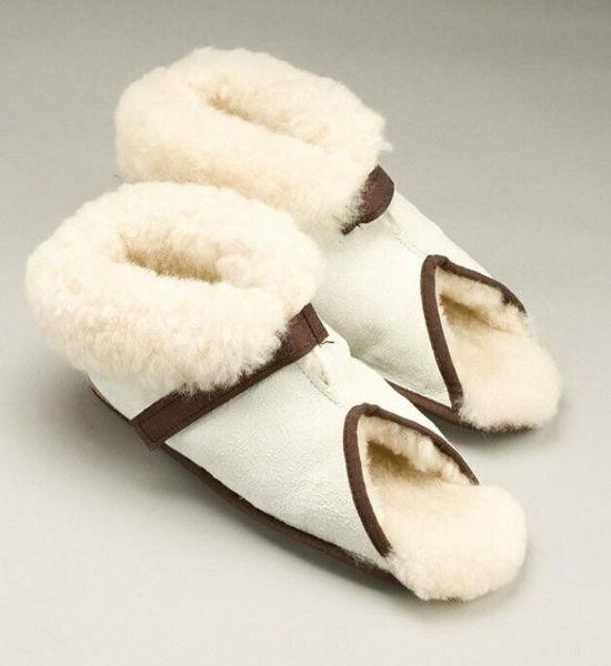 Picture of Large - Open Toe Medical Sheepskin Slipper